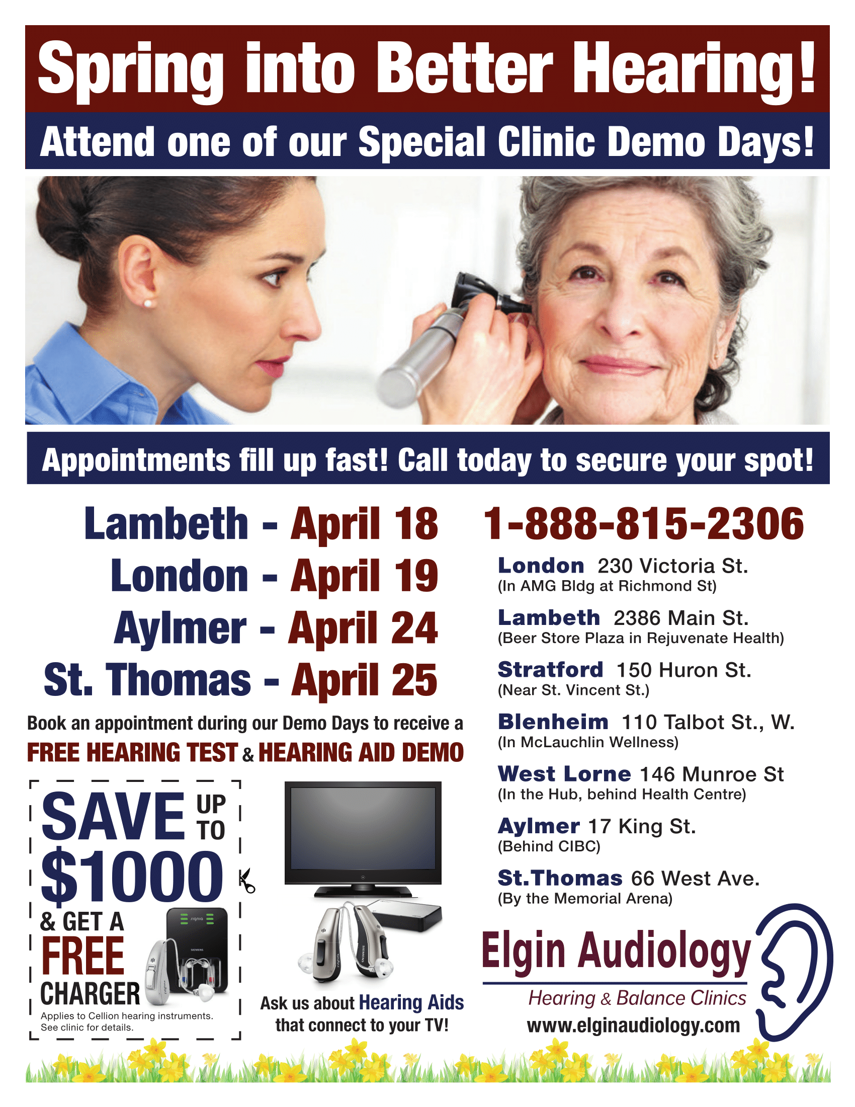Elgin Audiology - Spring Sale Flyer 2018-1